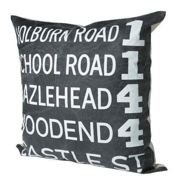TK HIRO Subway Sign Cushion- HOLBOURN ROAD