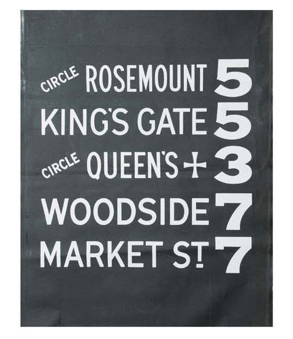 TK HIRO Subway Sign Cushion- KINGS GATE