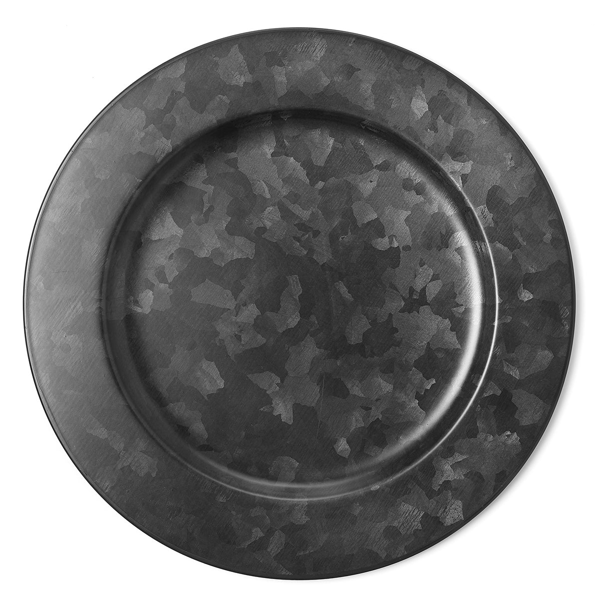 Galvanised Black Round Plate Wide Rim Black – 280mm