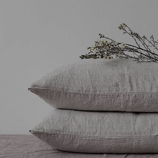 Pure Washed Linen Feather Filled 50cm Cushion- European Made