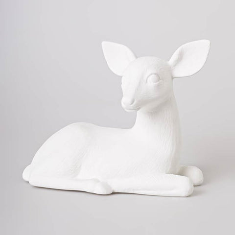 Bone China Doe Lamp