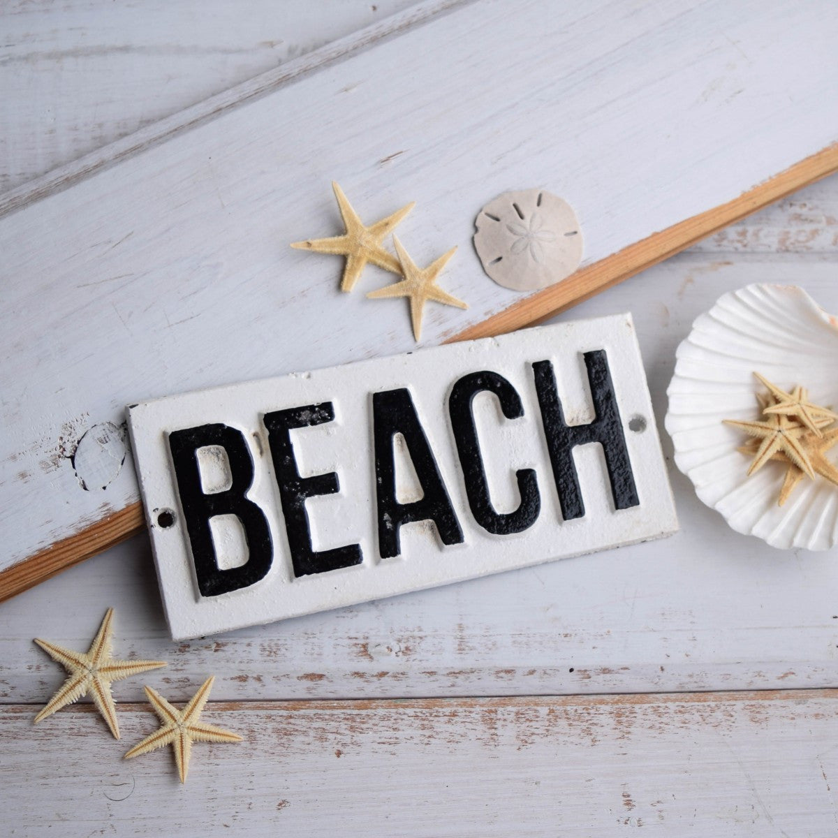 Cast Iron Beach sign
