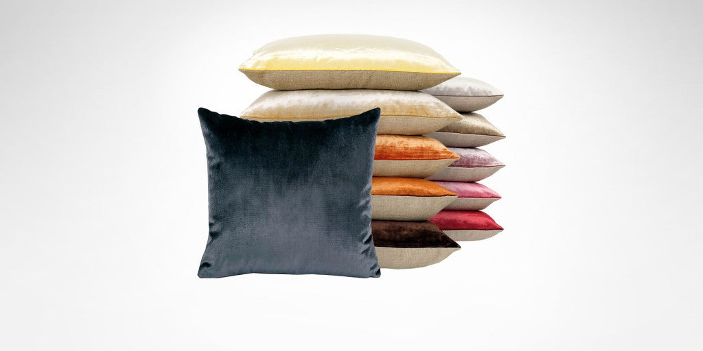 Iosis France Velvet Berlingot Cushion in Ambre 45cm