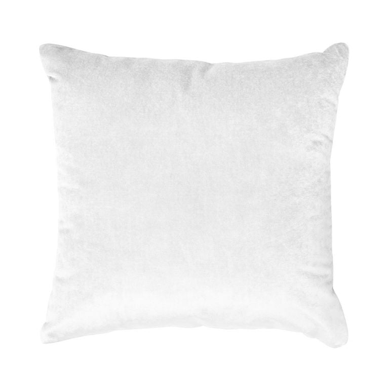 Iosis France Velvet Berlingot Cushion in White 45cm
