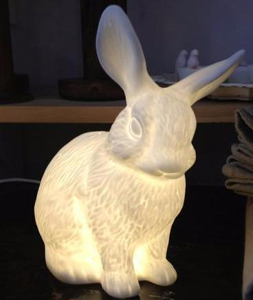 Bone China Medium Bunny Lamp