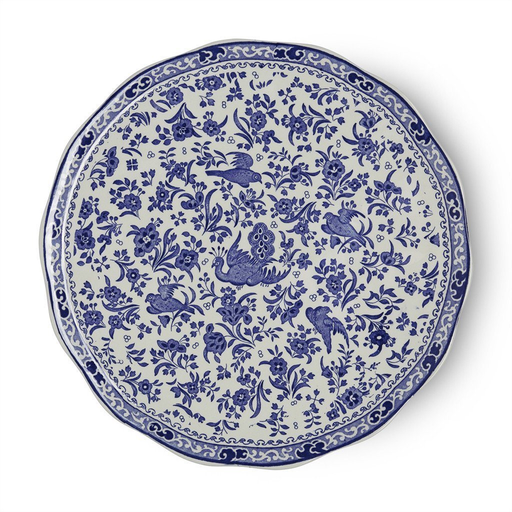 Burleigh UK Blue Regal Peacock- Cake Plate