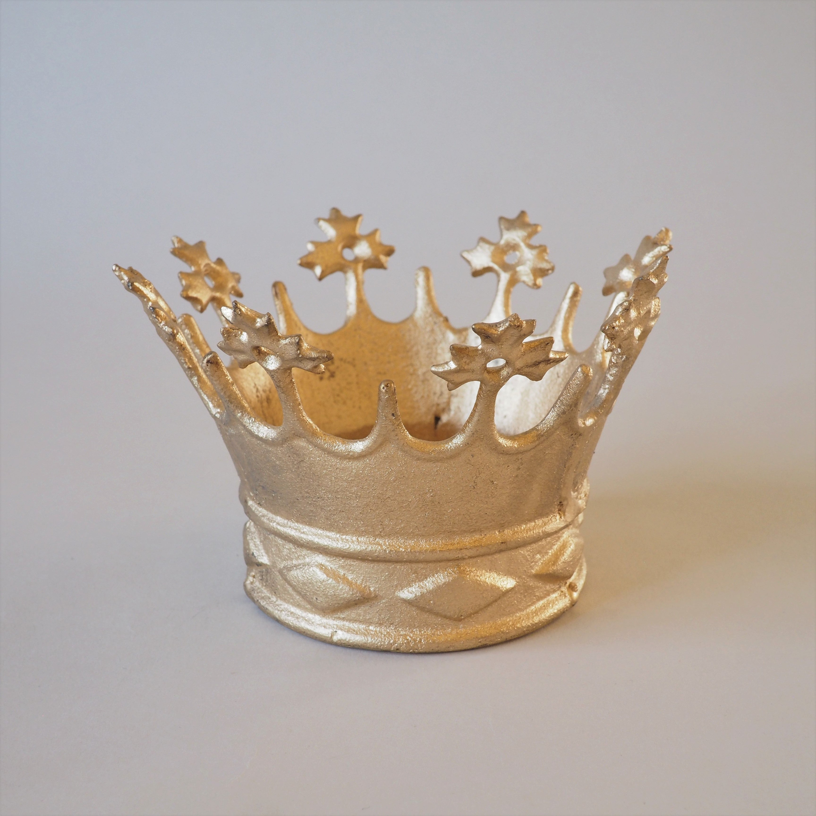 Cast Iron Golden Crown