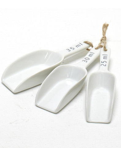 Porcelain Kitchen Scoop Set