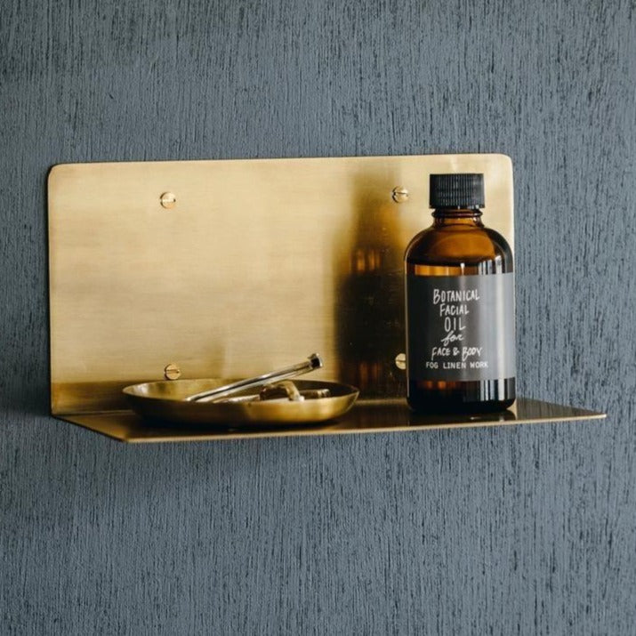 Wide Brass Shelf Fog Linen Work Japan