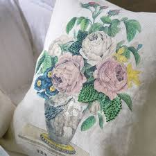 John Derian The Bouquet Parchment Cushion for Designers Guild