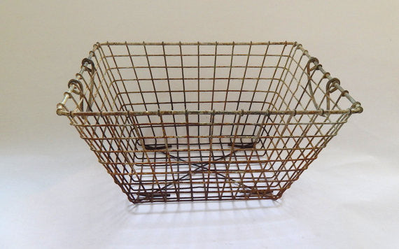 Vintage French Oyster Gathering Crate