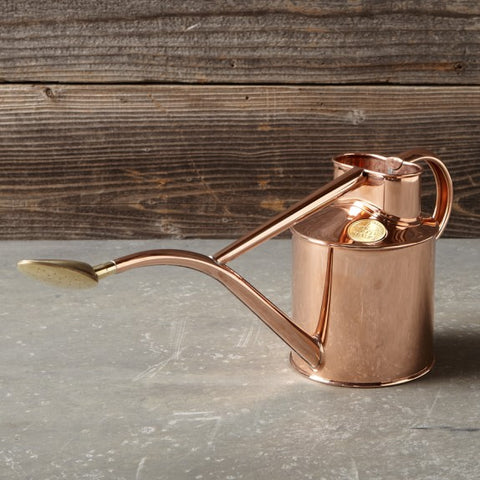 English Made Copper Indoor Watering Can. Haws UK.