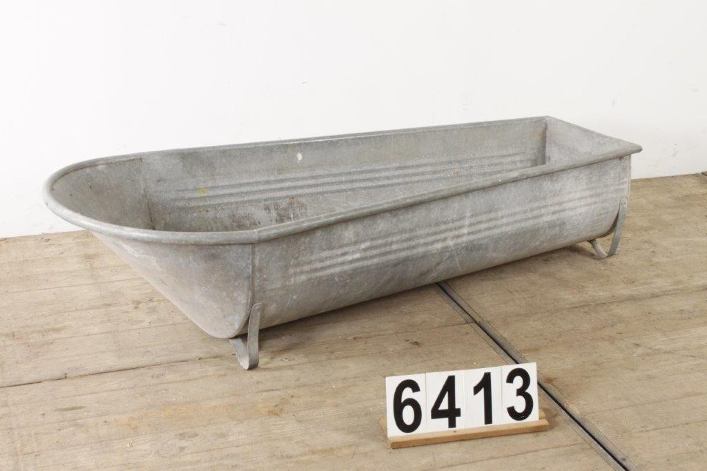 Vintage French Zinc Full Size Outdoor Bath