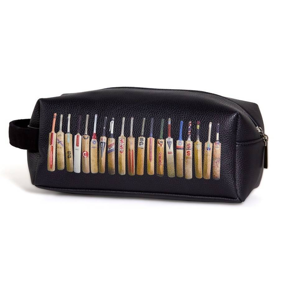 Bat Line Up Toiletry Bag in Black