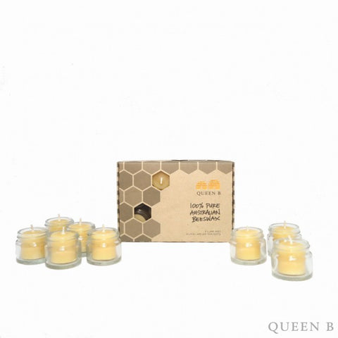 Queen B Jam Jar Tealight Candles 8 pc Set