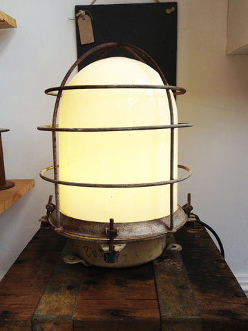 Vintage Industrial Ship Lamp