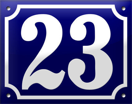 Enamel House Numbers from France - Cobalt Blue