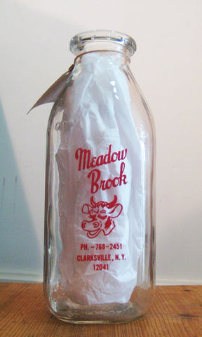 Vintage Meadowbrook Dairy Milk Bottle