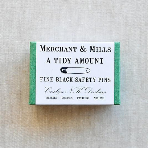 Merchant and Mills Fine Black Safety Pins