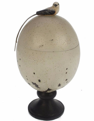 Footed Ostrich Egg Canister