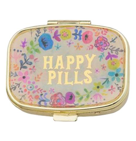 Pill Box with Happy Pills Cover
