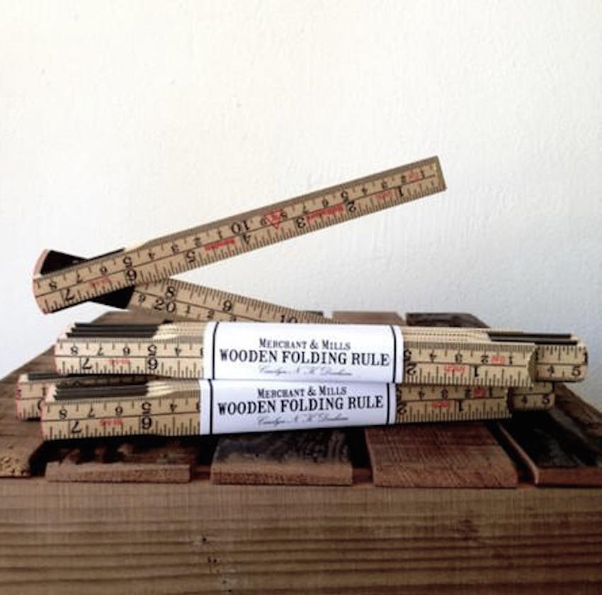 Merchant and Mills Wooden Folding Ruler