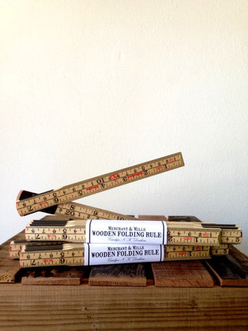 Merchant and Mills Wooden Folding Ruler- SWEDEN