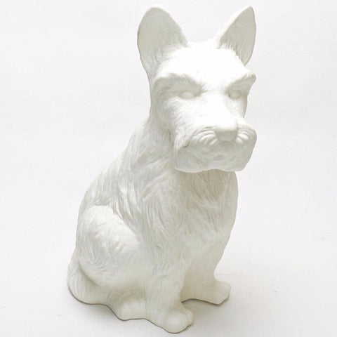 Porcelain Scotty Dog Lamp