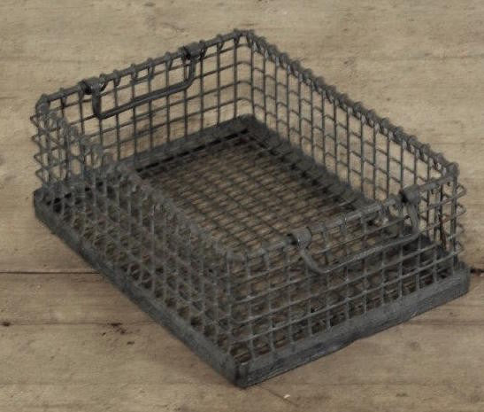 Vintage Wire Stacking Crate