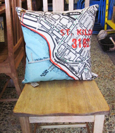 St Kilda Vintage Map Cushion