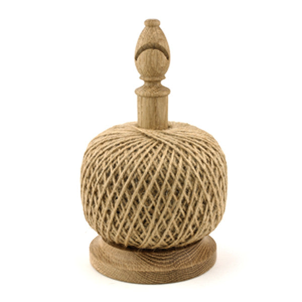 Oak String stand with cutter. Black Jute twine