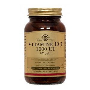 Vitamin D3 25 mcg (1000 IU) Chewable Tablets