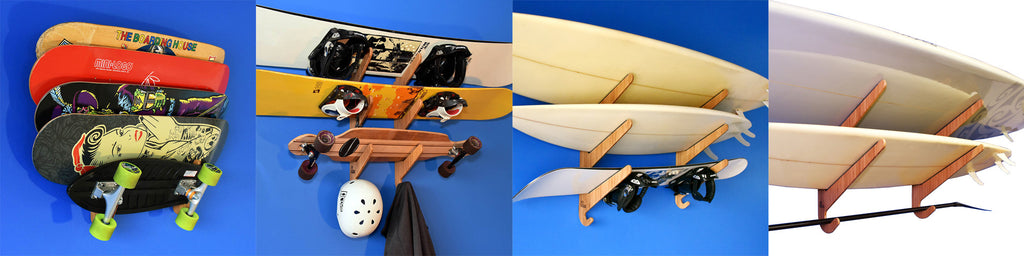 Horizontal Board Racks - Surf Racks SUP Racks Skateboard Racks Snowboard Racks