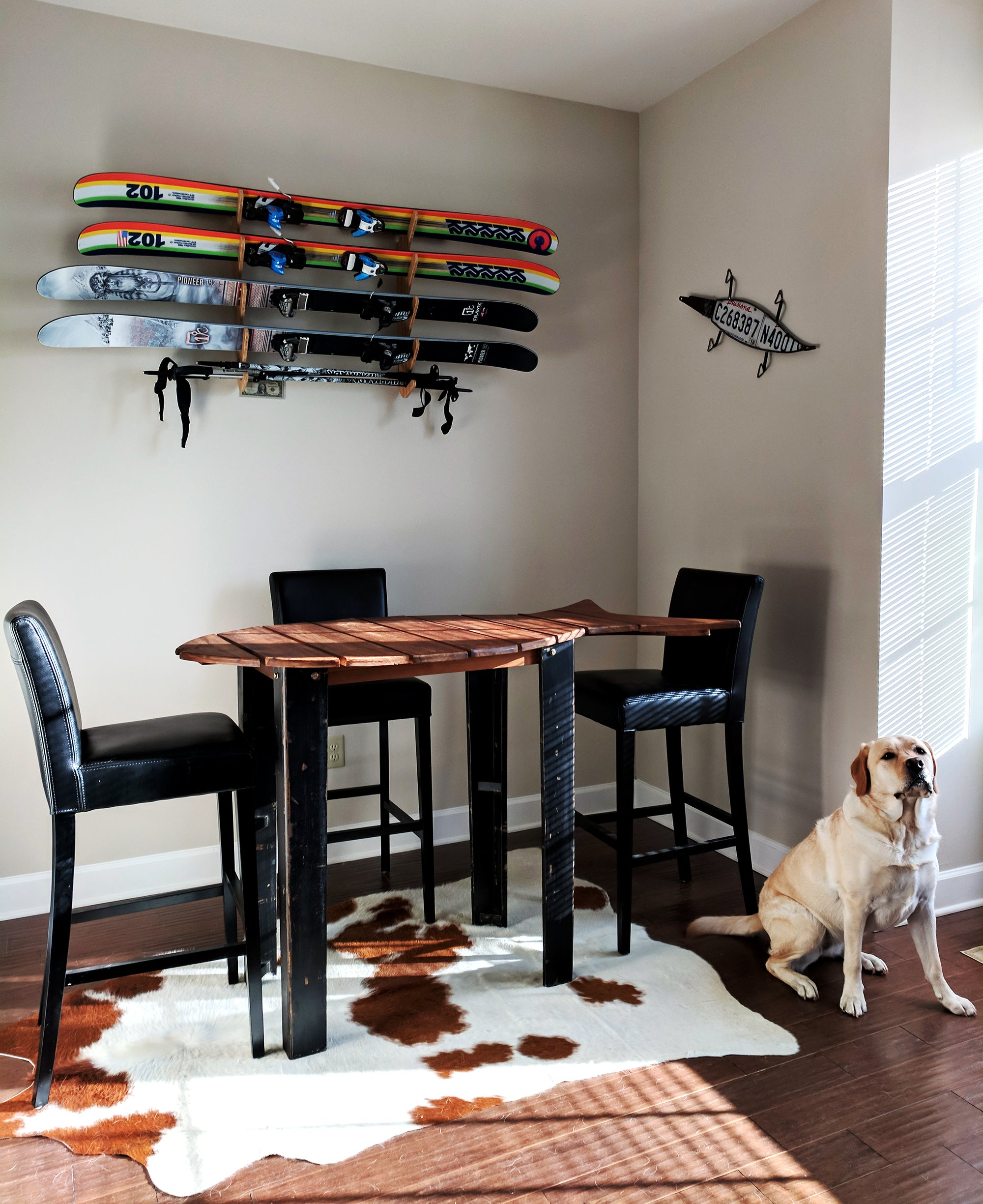 Indoor Ski Display - Ski Art Home Decor