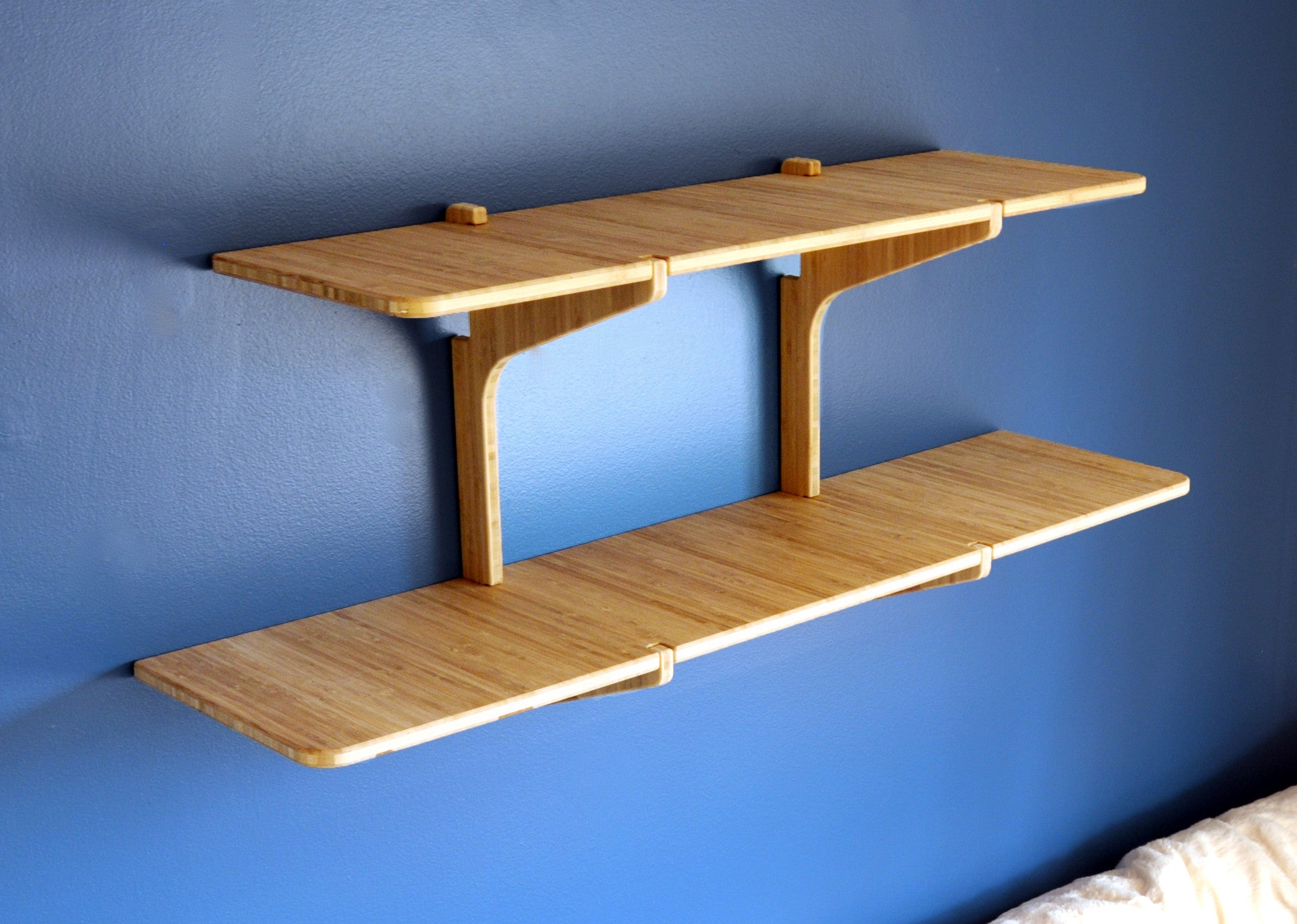 double shelf bamboo naked