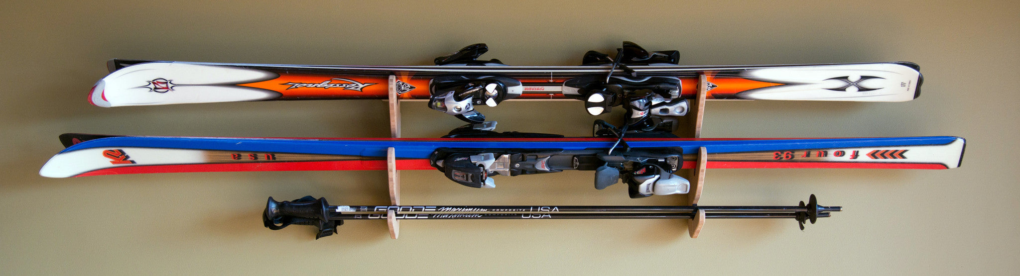 indoor wall mount ski rack