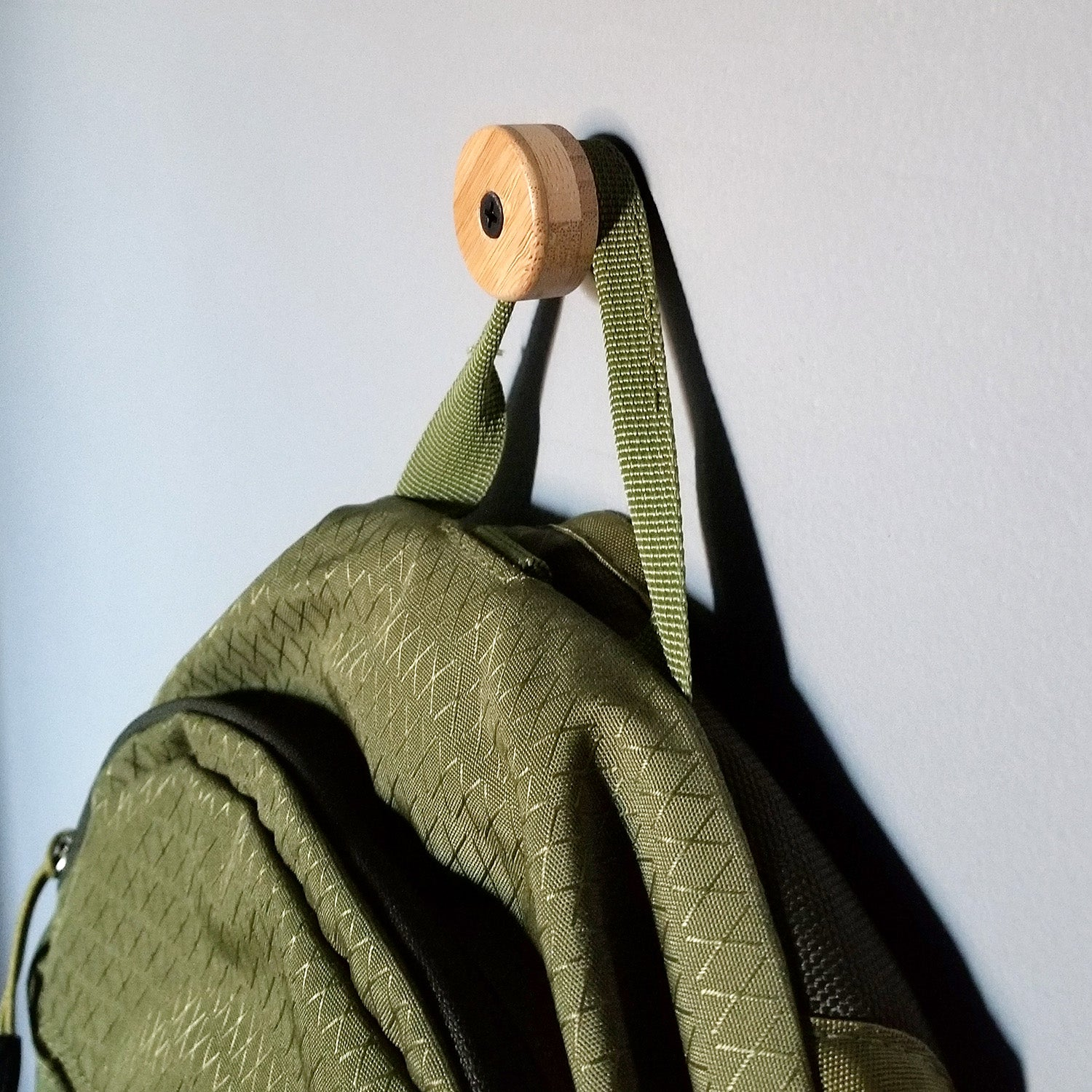 The Nubbin - Bamboo Backpack Hook