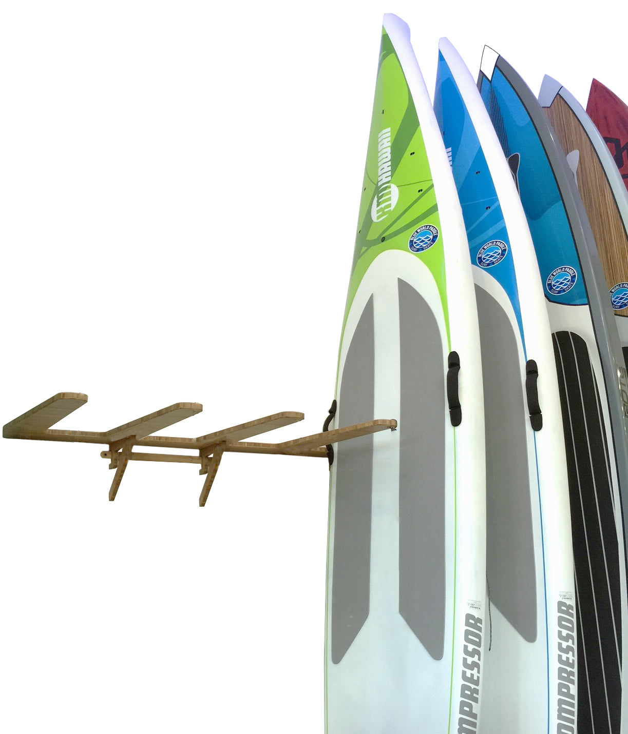 Wall Mounted Vertical SUP Rack by Grassracks