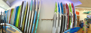 Bamboo In-store Wall Mounted Vertical Paddleboard Rack