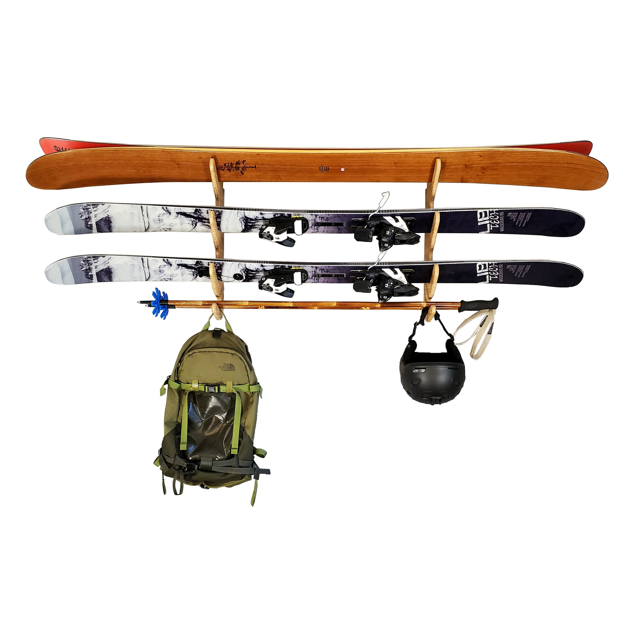Ski Rack for 3 Skis - Grassracks Wall Ski Storage