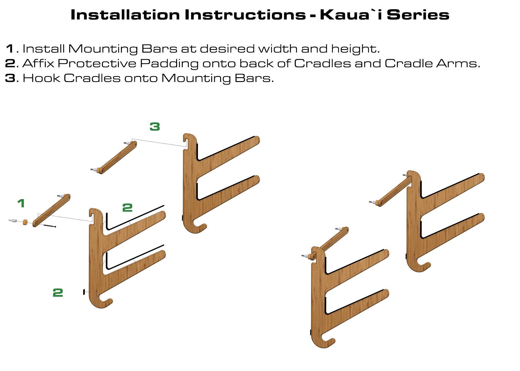 Surfboard Rack Installation Instructions - Grassracks Kaua'i Surfboard Rack