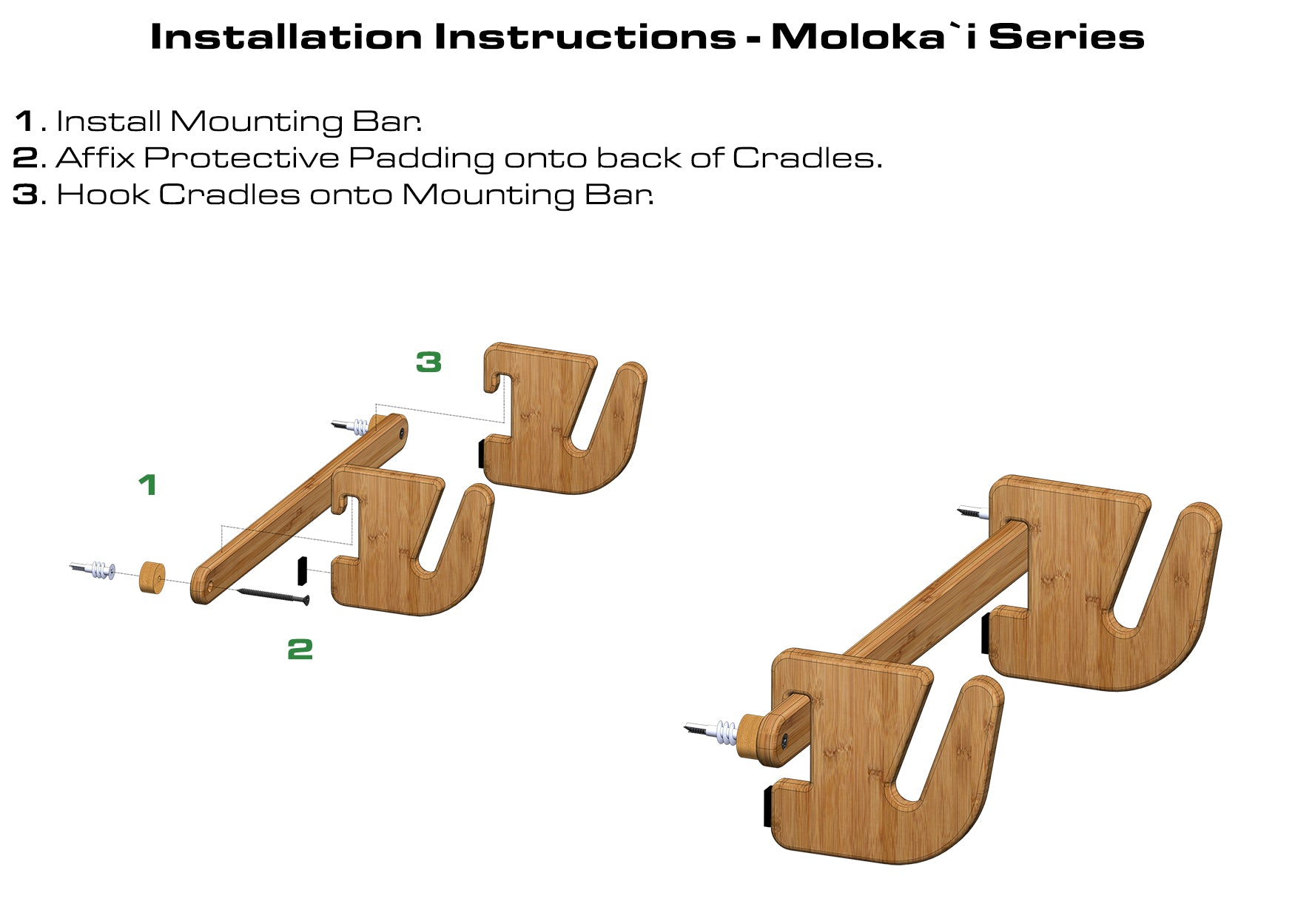 Skateboard Rack Installation Instructions - Bamboo Snowboard Rack by Grassracks