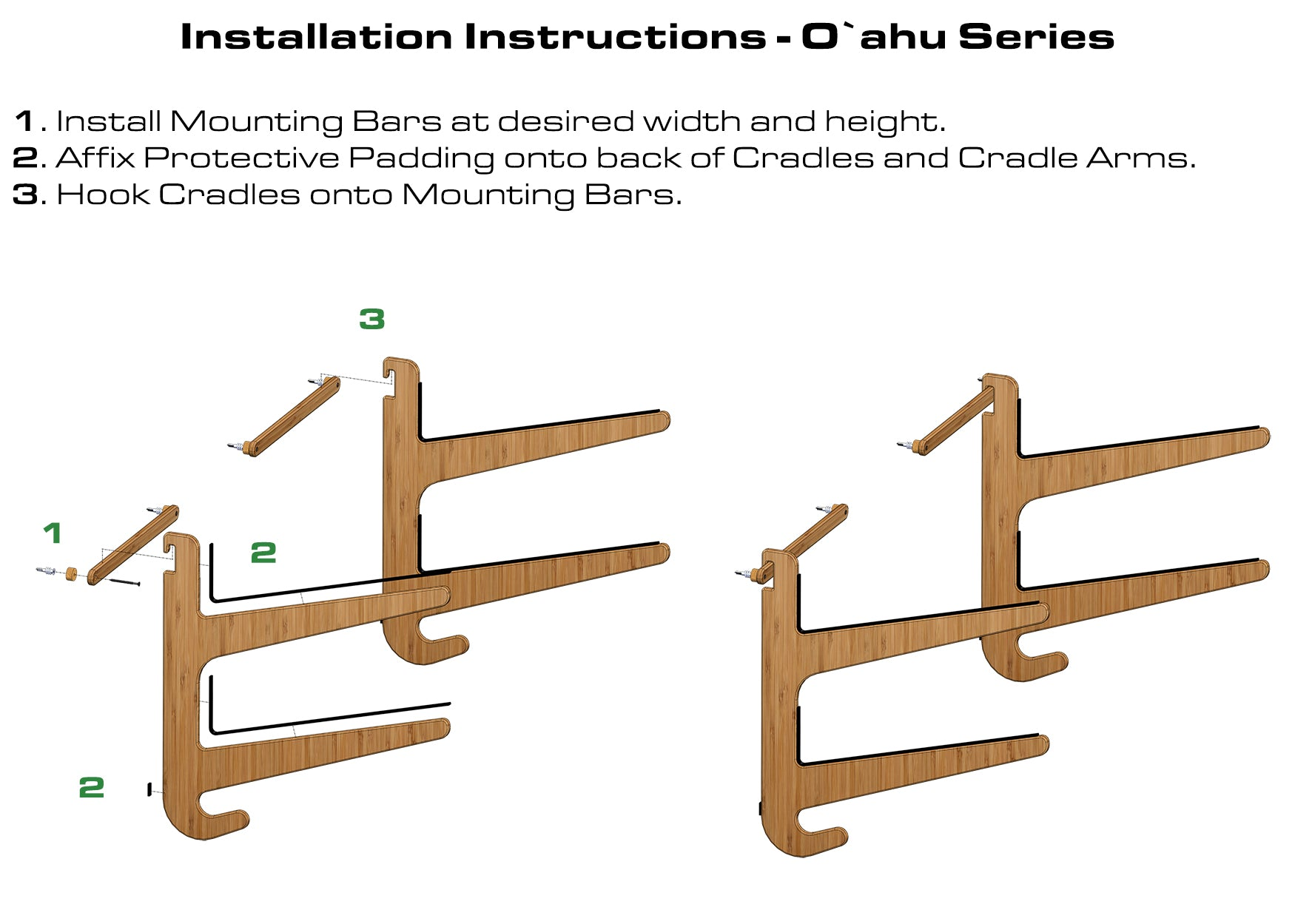 Paddleboard Rack Installation Instructions - Bamboo SUP Rack by Grassracks
