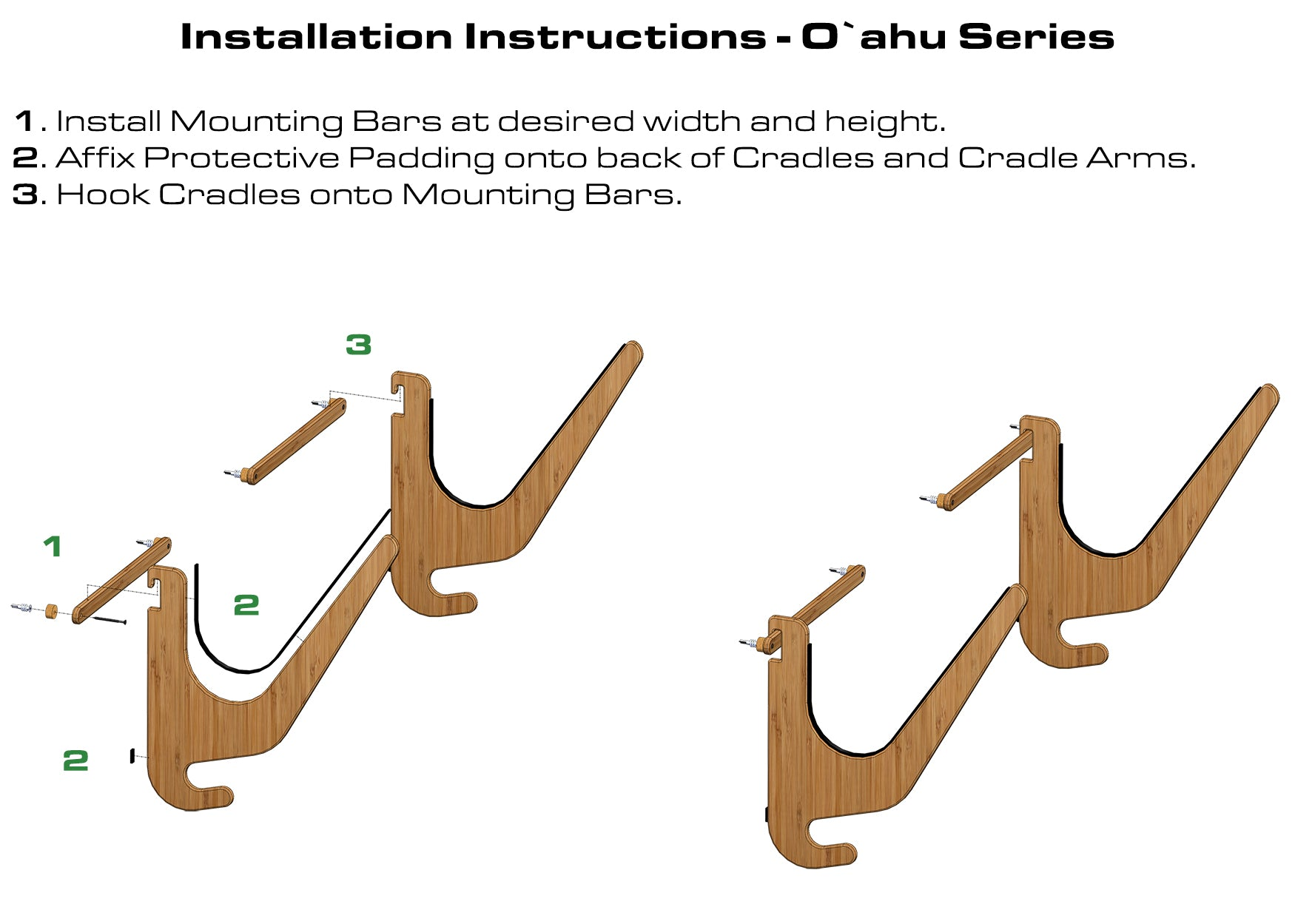 SUP Rack Installation Instructions - Bamboo Paddleboard Rack by Grassracks