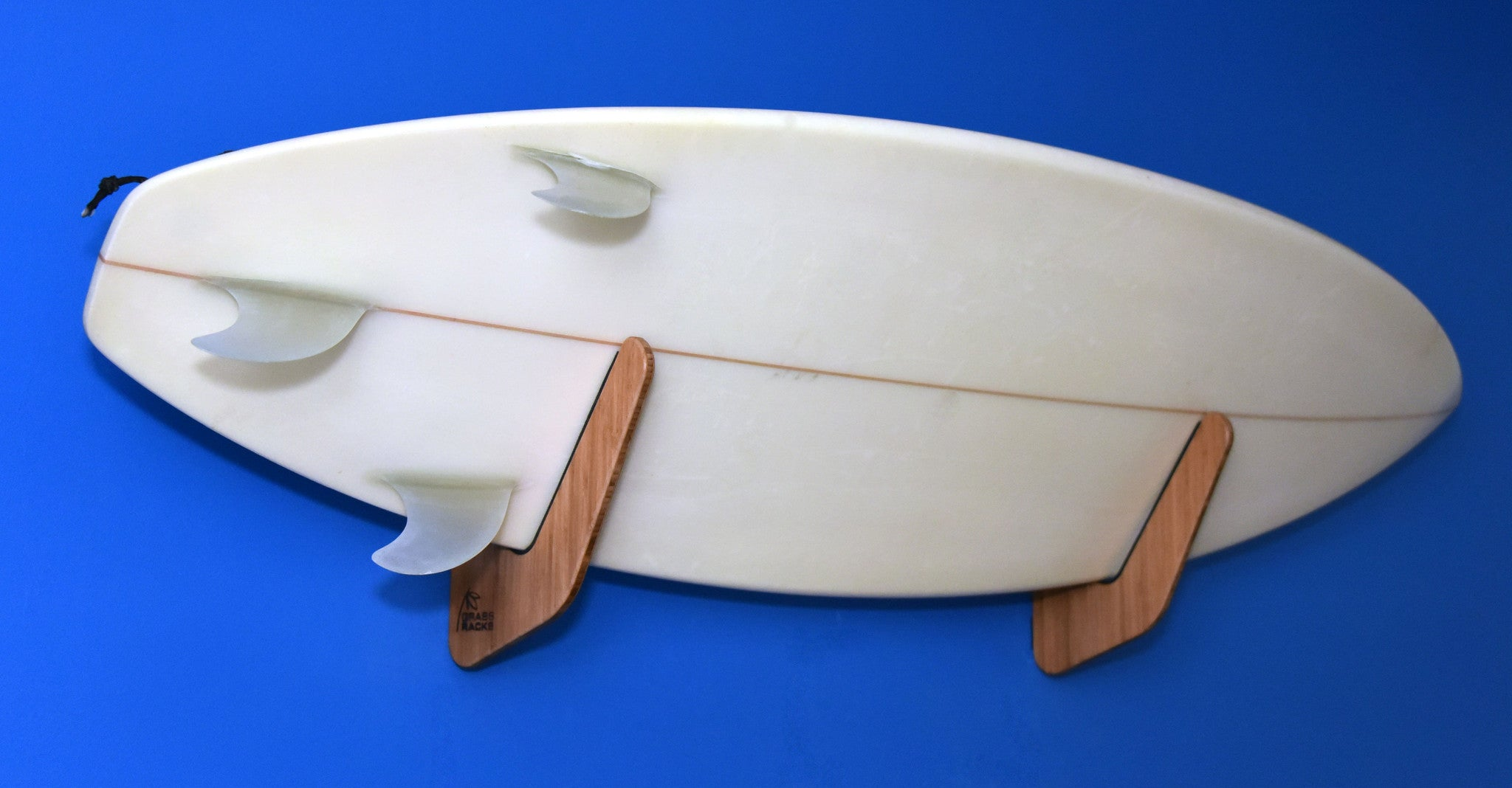 Bamboo Surfboard Rack | Horizontal Wall-Mounted Indoor and Garage - The Kaua'i Series