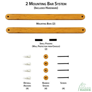 Indoor Ski Wall Rack Mounting System - Easy Installation Ski Rack