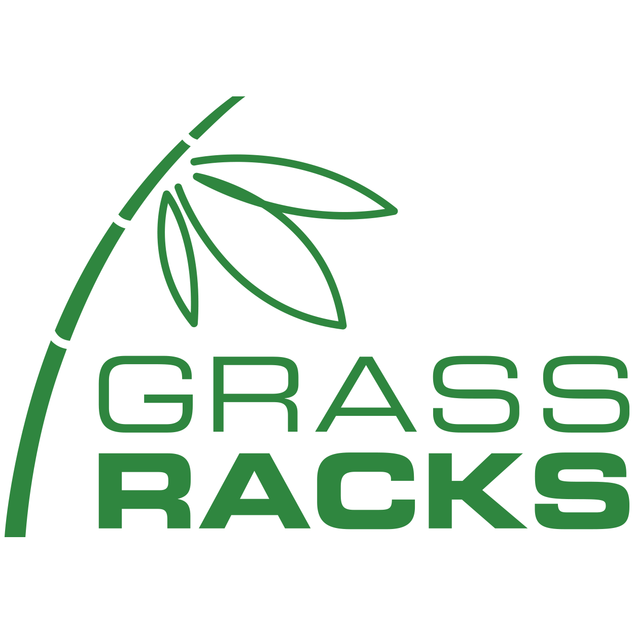 Grassracks Logo - Bamboo Board Racks and Furniture - Vinyl Decal