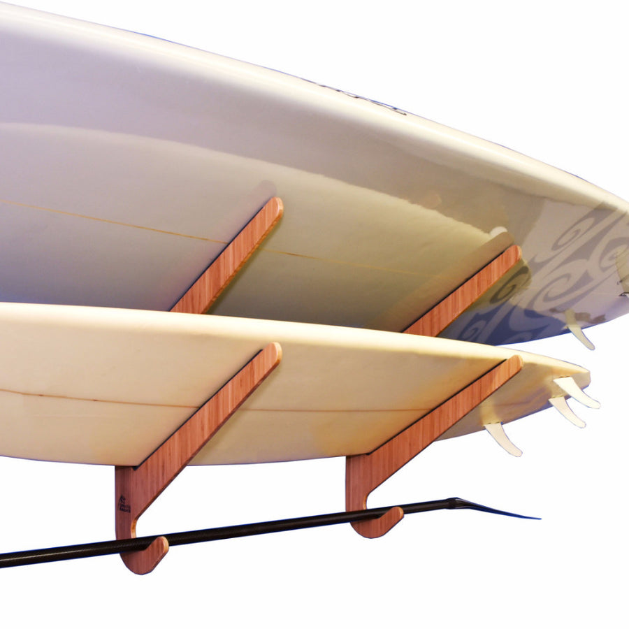 Bamboo SUP Rack - Longboard Display - Wakeboard Storage