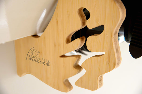 Bamboo Wall Mounted Snowboard Rack The Boarder