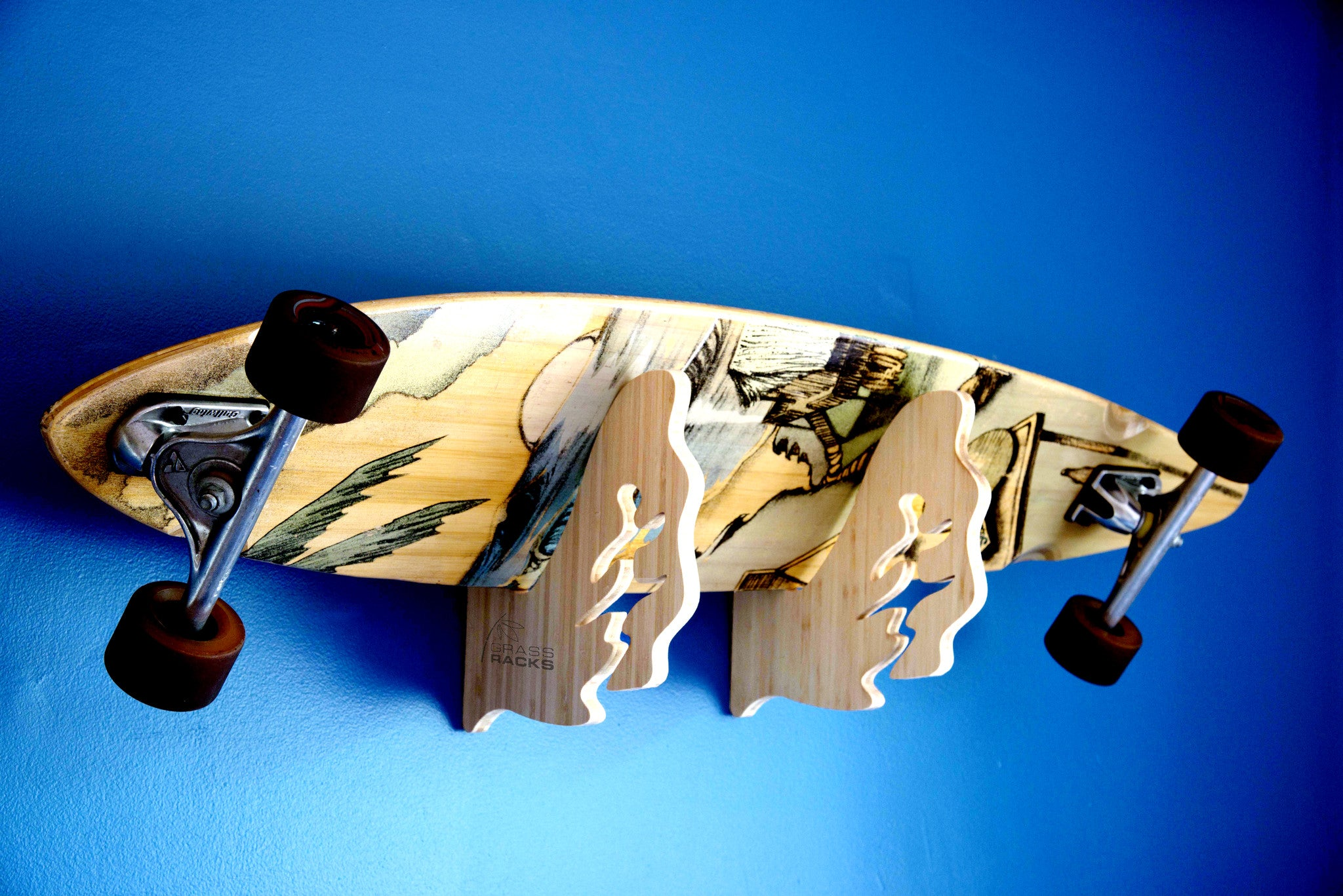 Wall Rack Mounted Skateboard Display Grassracks